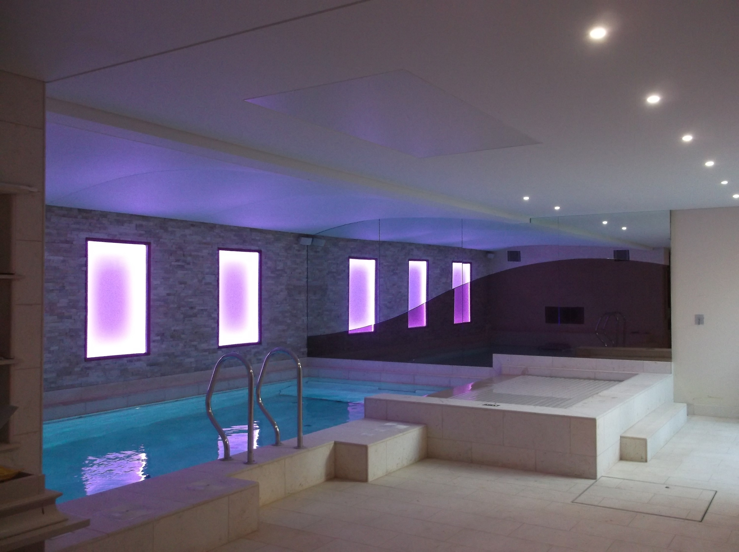 Swimming Pool Ceilings and Lighting