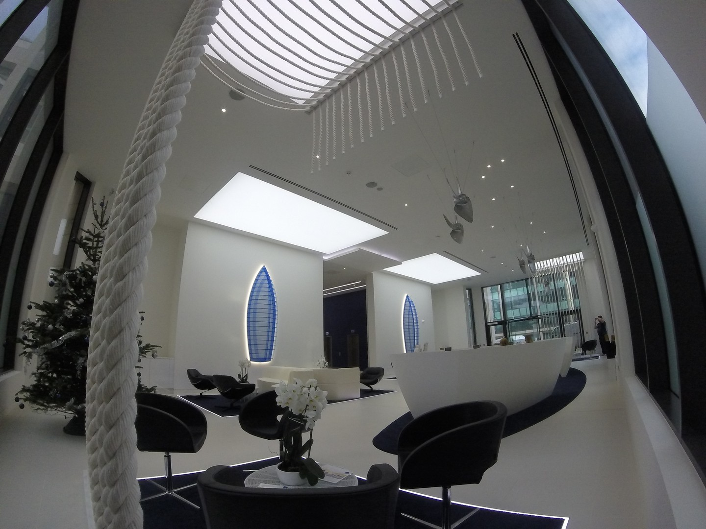 Our Stretch Ceiling Light Box into this amazing office in London.