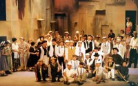 The Sicilian chorus of Cavalleria Rusticana, comprising local singers and actors and Europeans living in Ho Chi Minh City.
