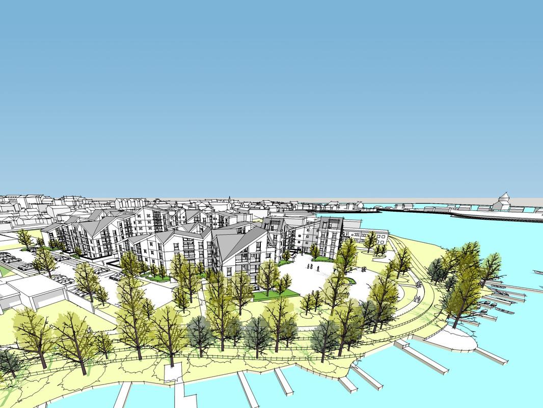 Skitse: Laban arkitekter  www.laban.as/ovenvande