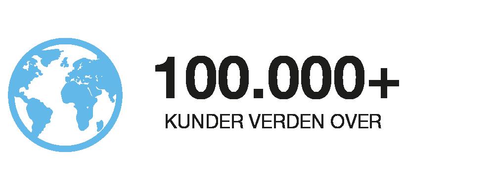 RIB 100.000 kunder verden over