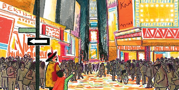 illustration from forthcoming book, NANA IN THE CITY; Clarion/HMH, fall 2014