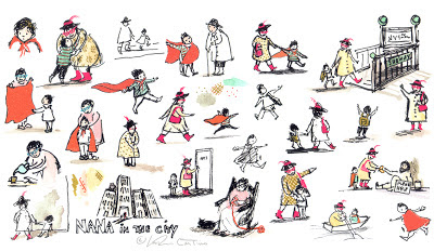 Sketches for NANA IN THE CITY; Clarion books; Coming Fall 2014