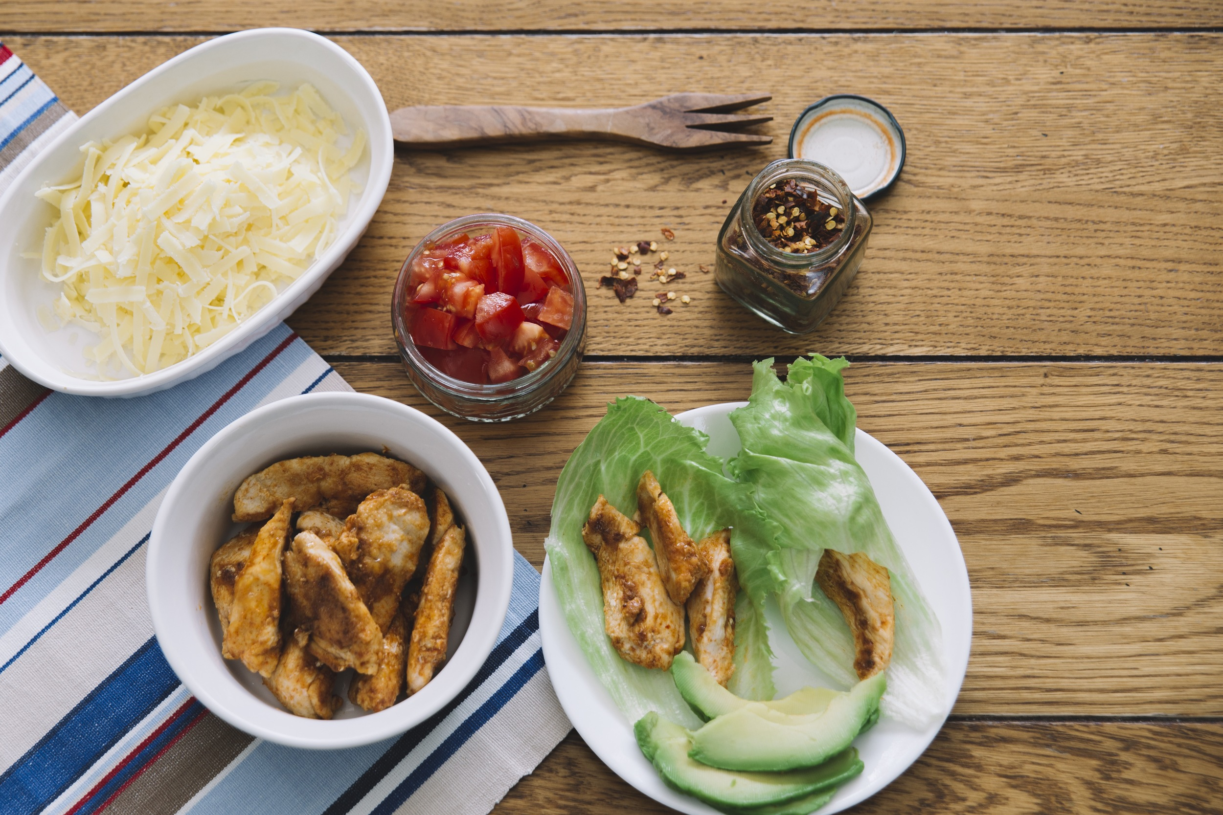 The Little Green Bed of Lettuce:  Light Chicken Fajitas