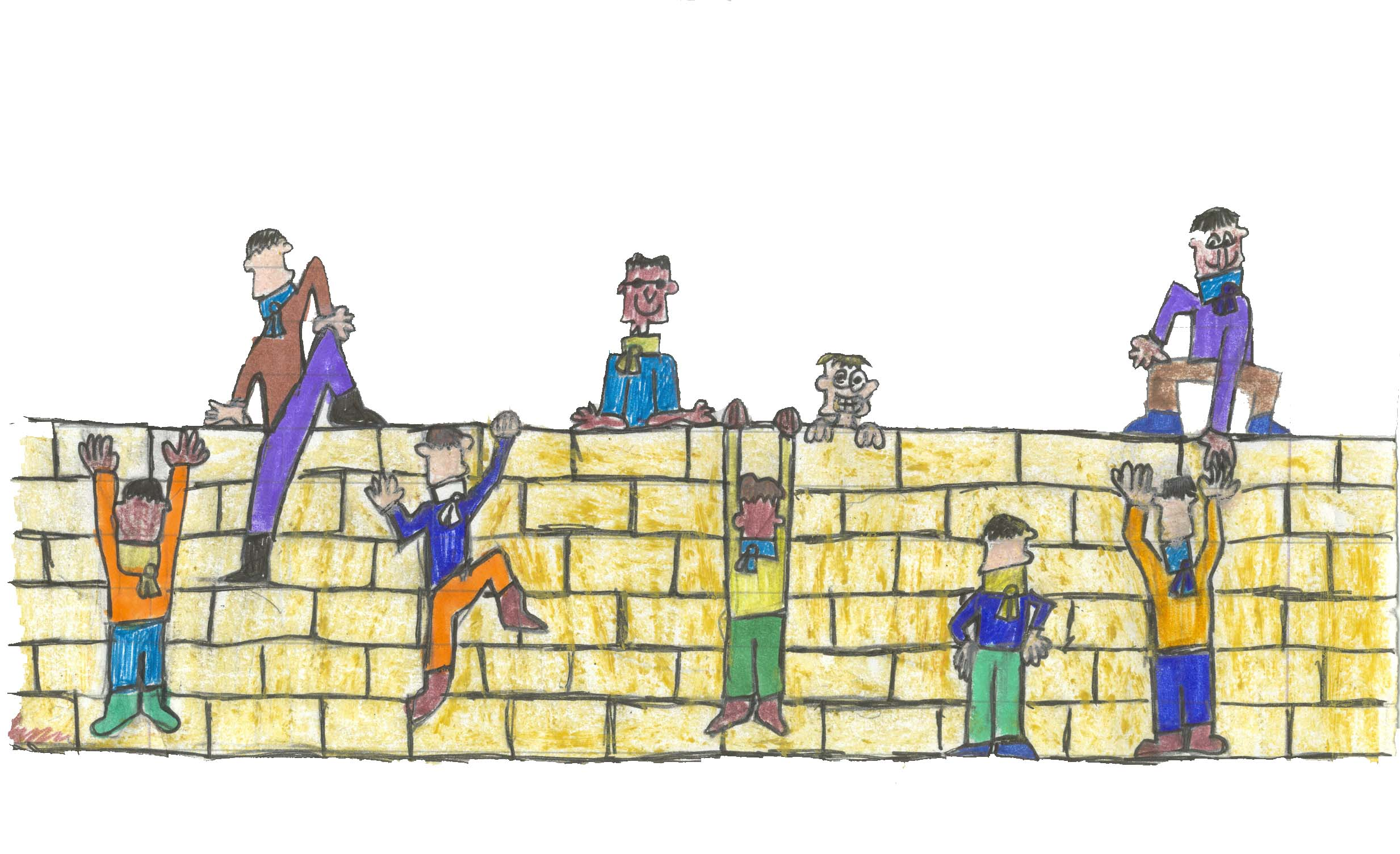 Youth have the right to grow up believing that a peaceful and safe future is possible. (Drawing by Lev, young journalist, 2005