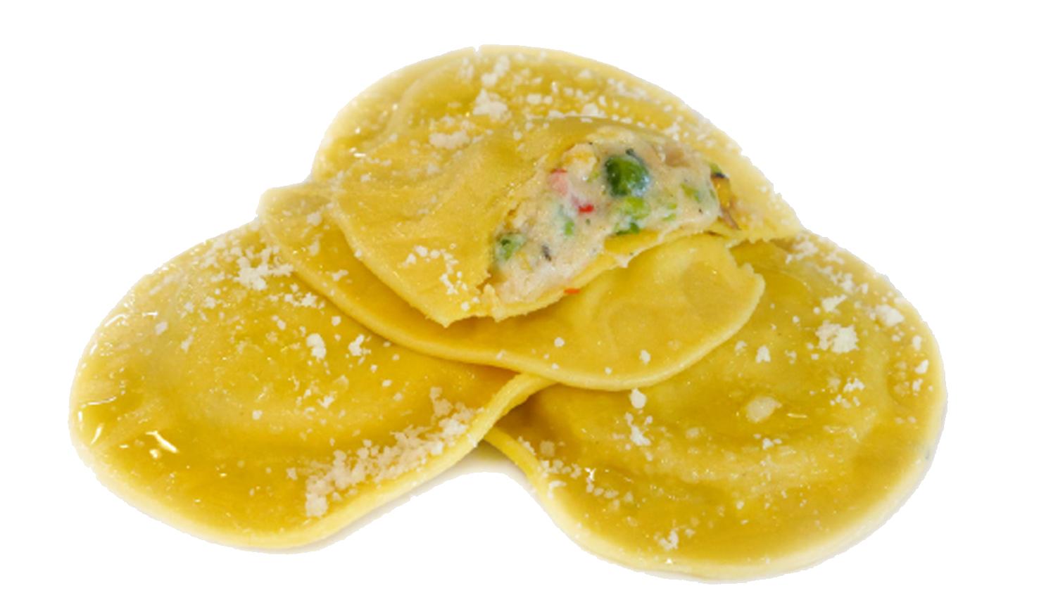 Roasted Vegetable & Smoked Gouda Ravioli -