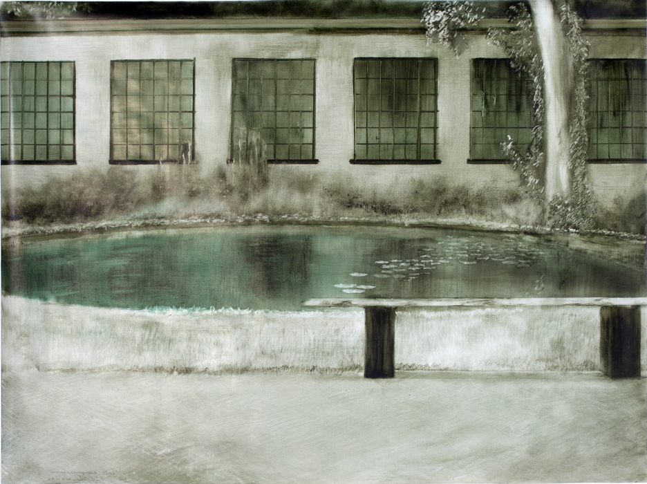 Chamberlain,Carré Reflecting Pool, Anonynous Observed, 2013.jpg