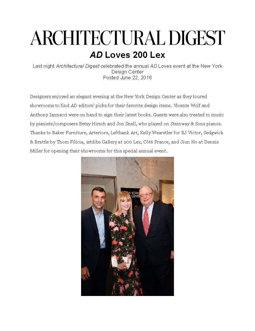 Architectural Digest - June 22, 2016