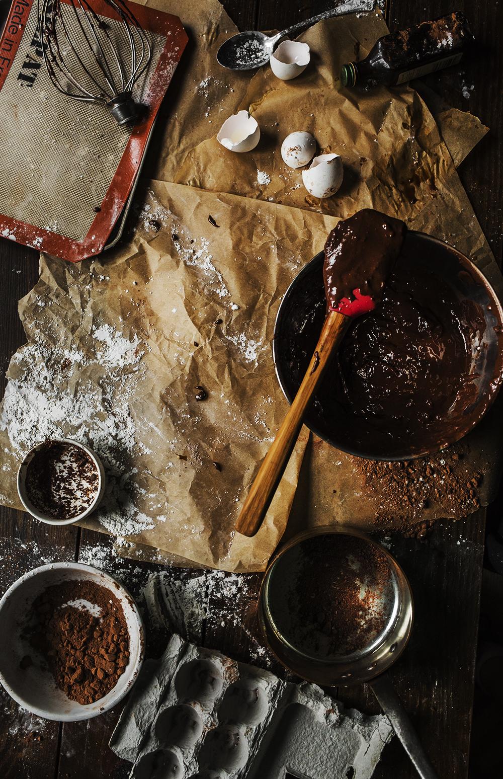 ingredients- chocolate - gluten-free-cookies