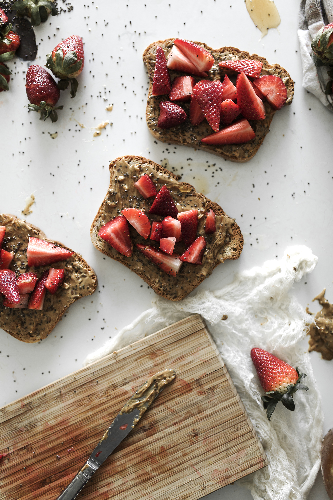 GF strawberry toast