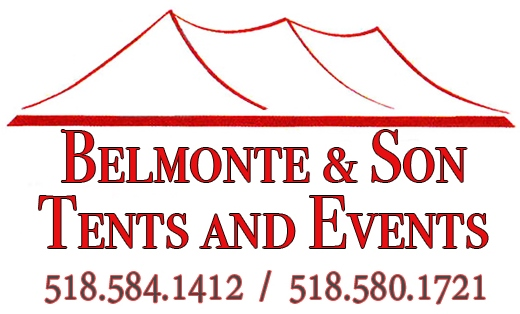 Bellmonte & Son Tents & Events  518.584.1412 www.belmonteandson.com  Belmonte & Son Tents and Events is a family owned business since 2005 specializing in party rentals, special events, corporate events, graduation parties and trade shows.  We offer a complete line of china, glassware, silverware and linens to fit any décor and budget.  With an extensive inventory of tents, tables, chairs, we have everything you need for a picnic in the park to an elegant gala.  In addition, we rent pipe and drape, portable stages and dance floors.