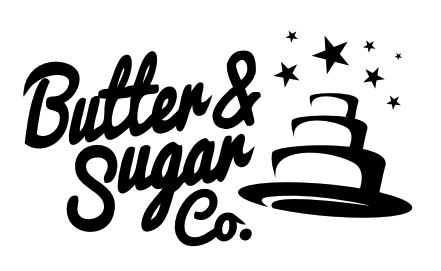 Butter and Sugar Co.  855.518.CAKE www.butterandsugarco.com