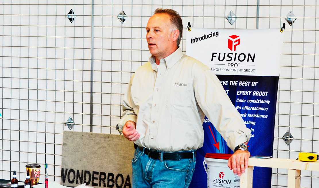 David Shirley from Custom Building Products