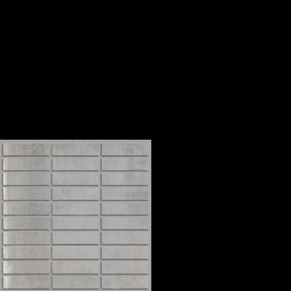 "SELGMOSP London Grey Polished 1"" x 4"" on 12"" x 12"" Mesh"