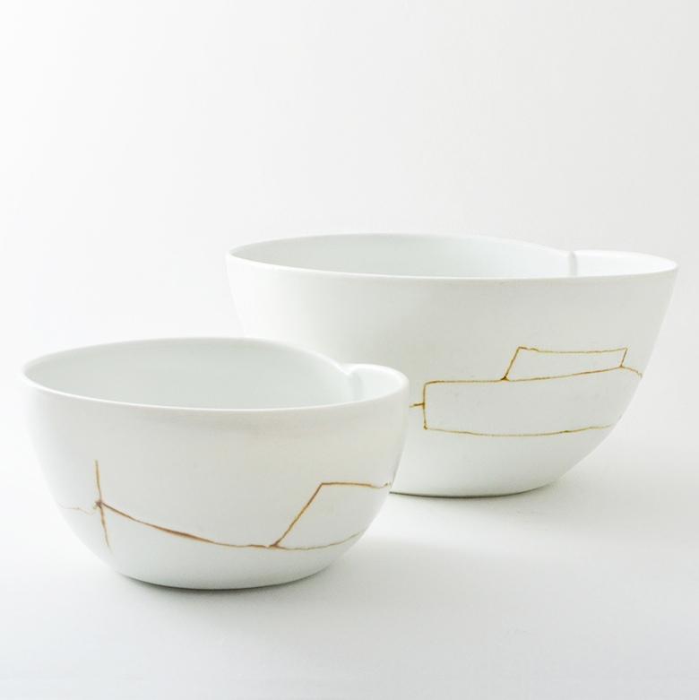 Porcelain Dart Bowl