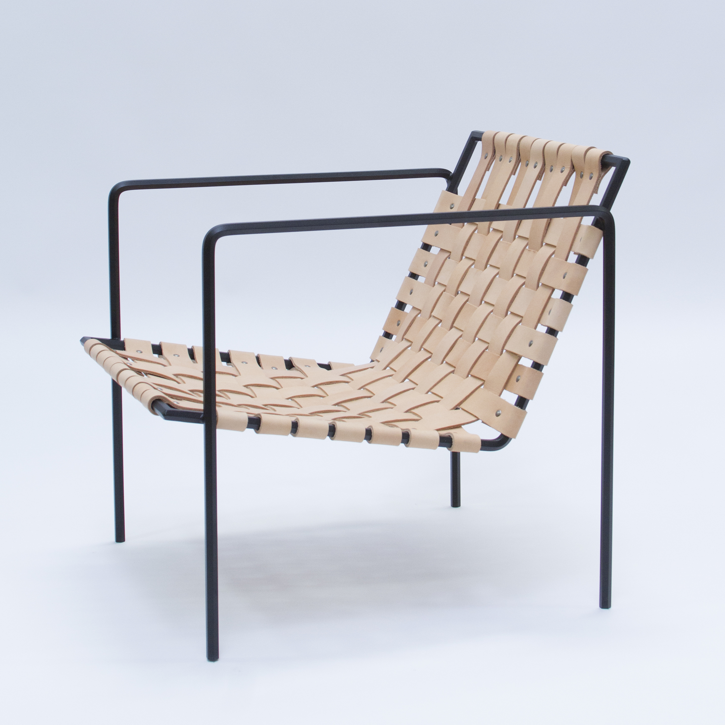 Rod + Weave Chair - Powder Coated