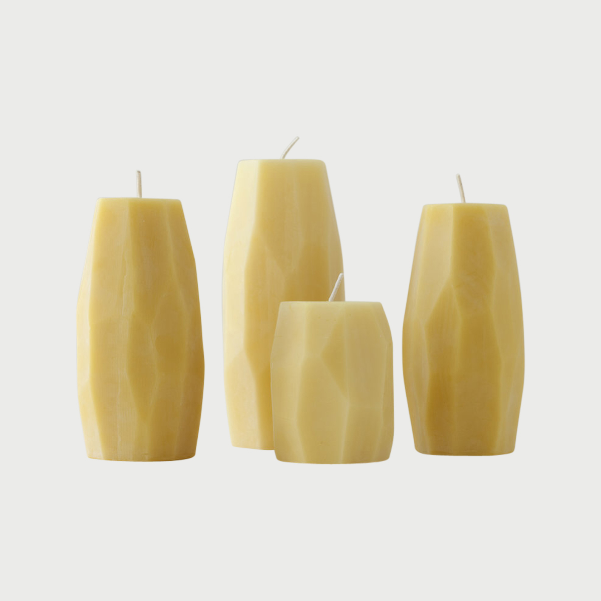 Faceted Beeswax Pillars