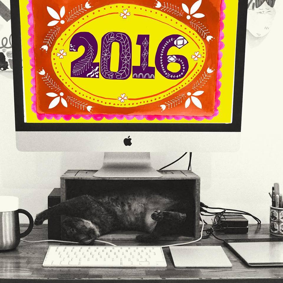 Anisa and her studio mate send warmest regards (and stunning lettering) for 2016