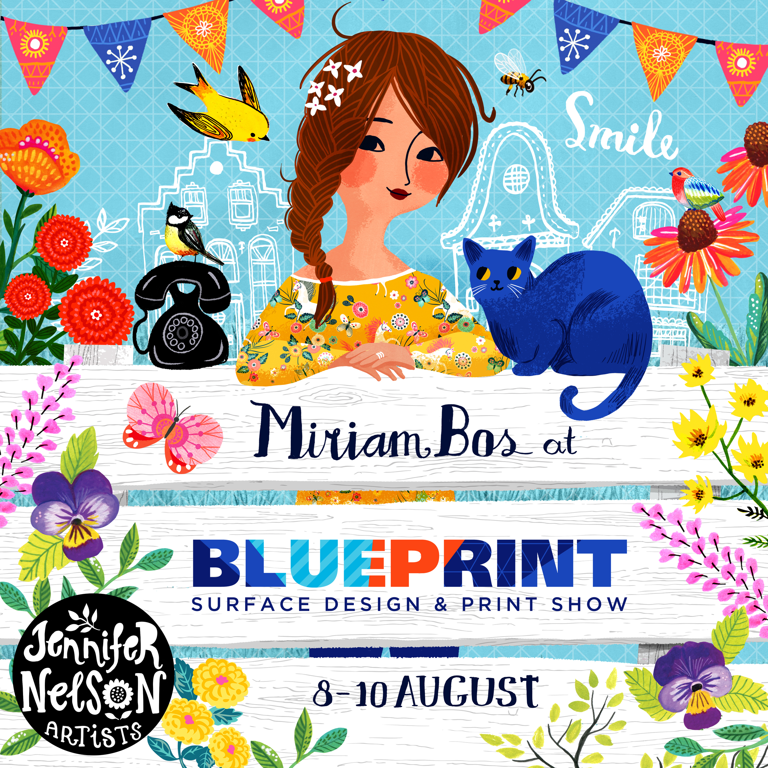Come see Miriam and all the JNA artists' fantastic work at BLUE PRINT! 8-10 AUGUST in NYC!