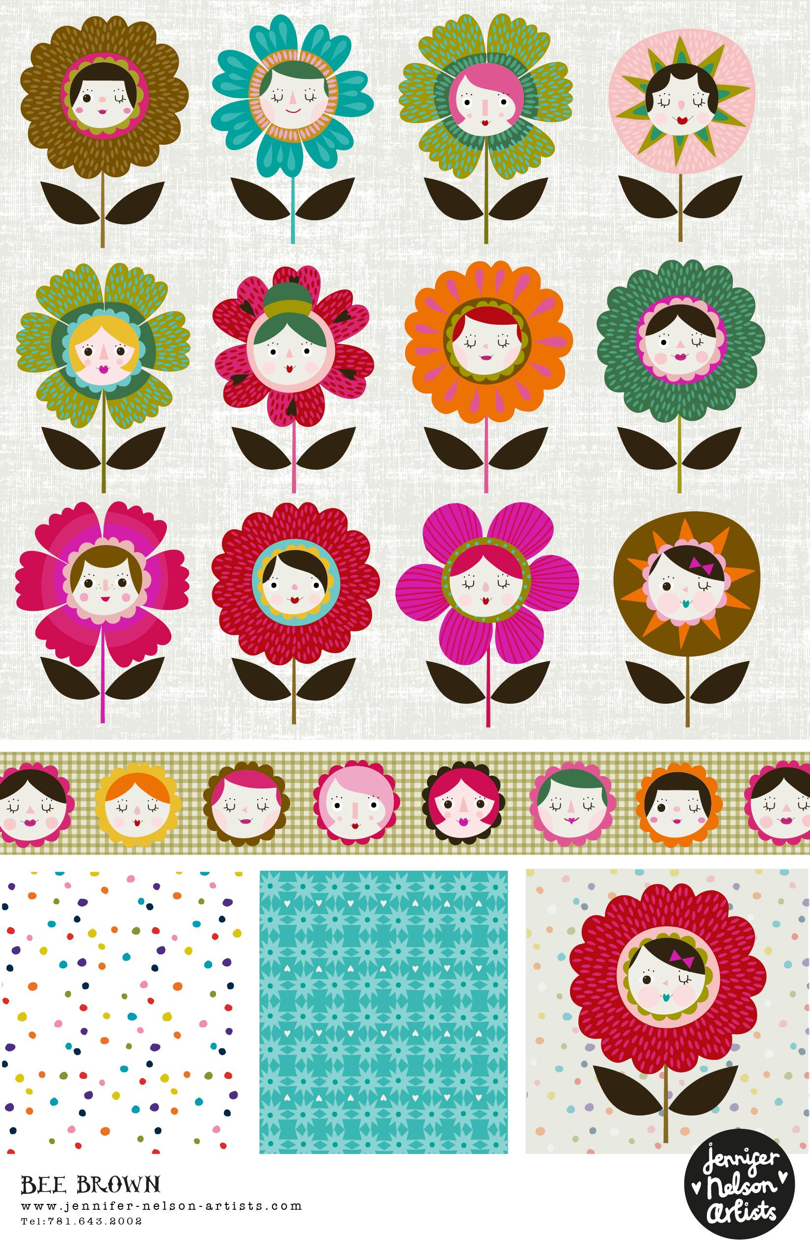 bee_brown_PP_floral_faces.jpg