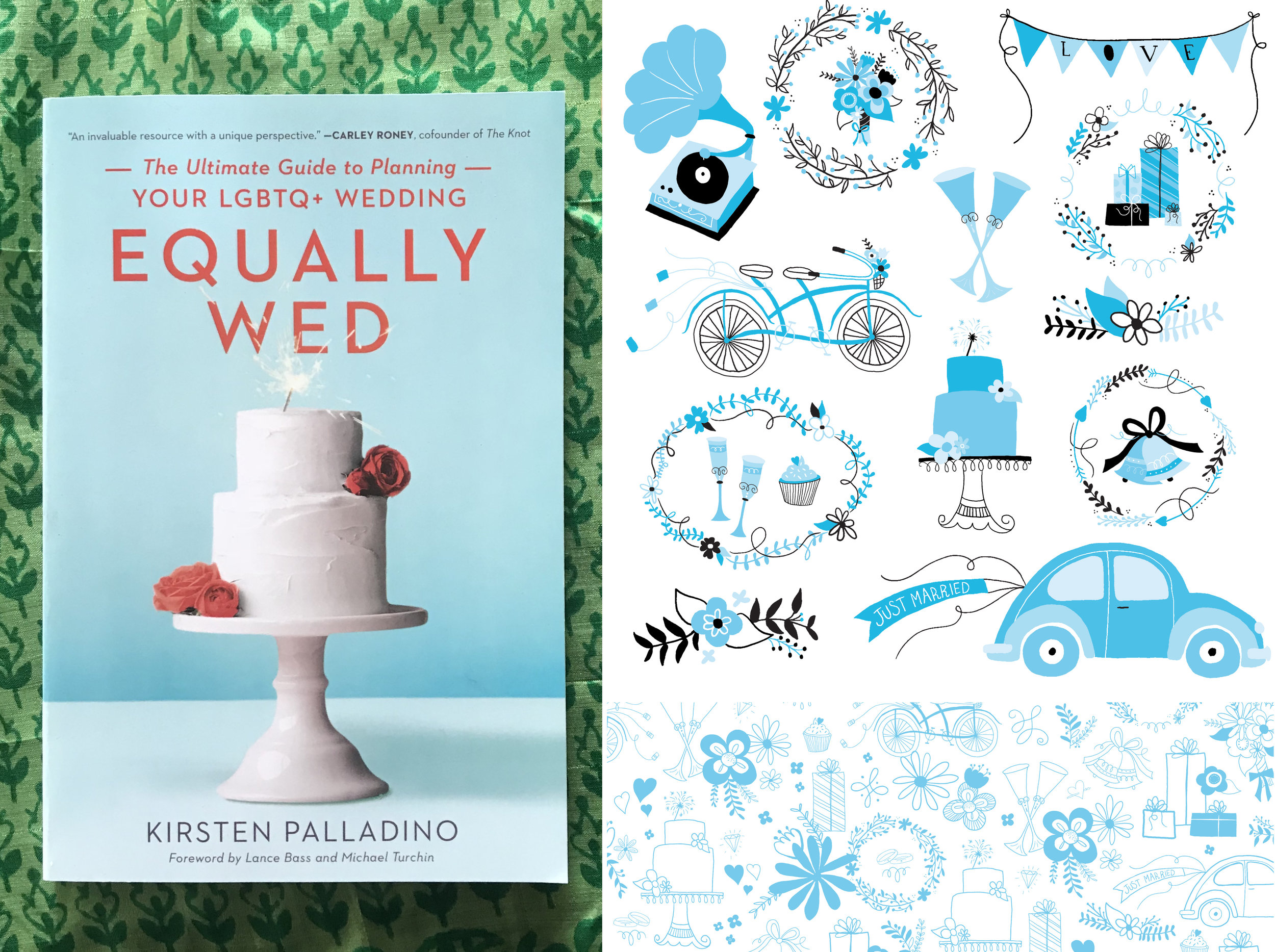 Kelly's super smart spots for the Seal Press book,  Equally Wed.
