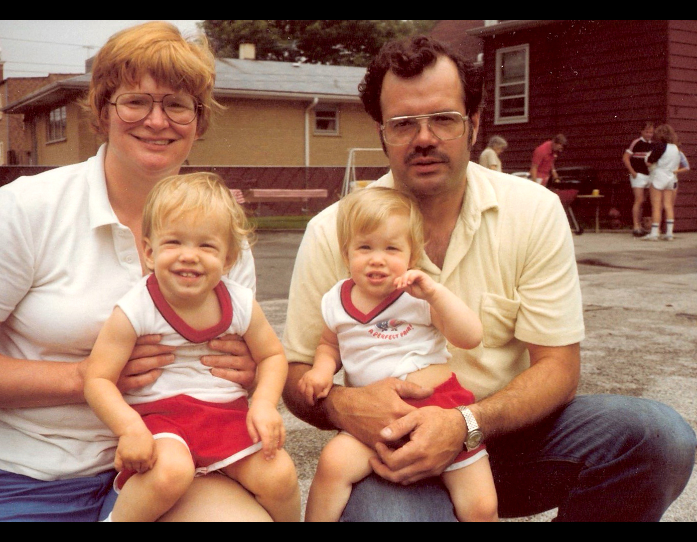 Bonnie, Sue, Beth and Bob in the early 80s.