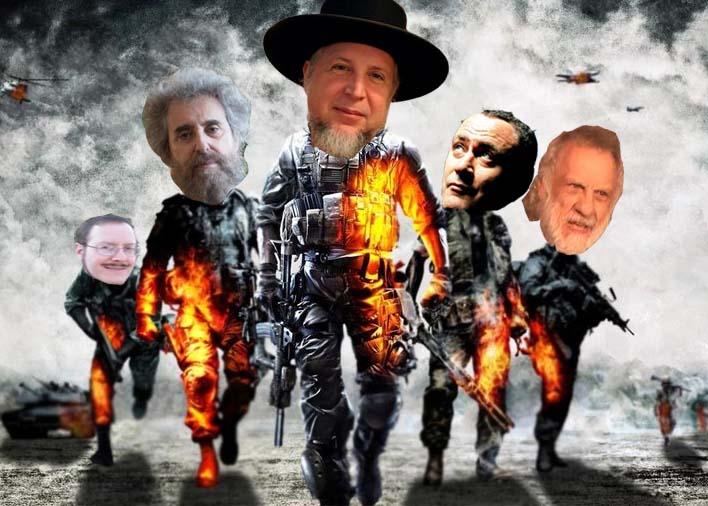 Michael Lesher, Stanley Cohen, Lorcan Otway, Gilad Atzmon, Norton Mezvinsky (left to right)