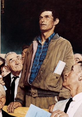 """Freedom of Speech"" by Norman Rockwell"