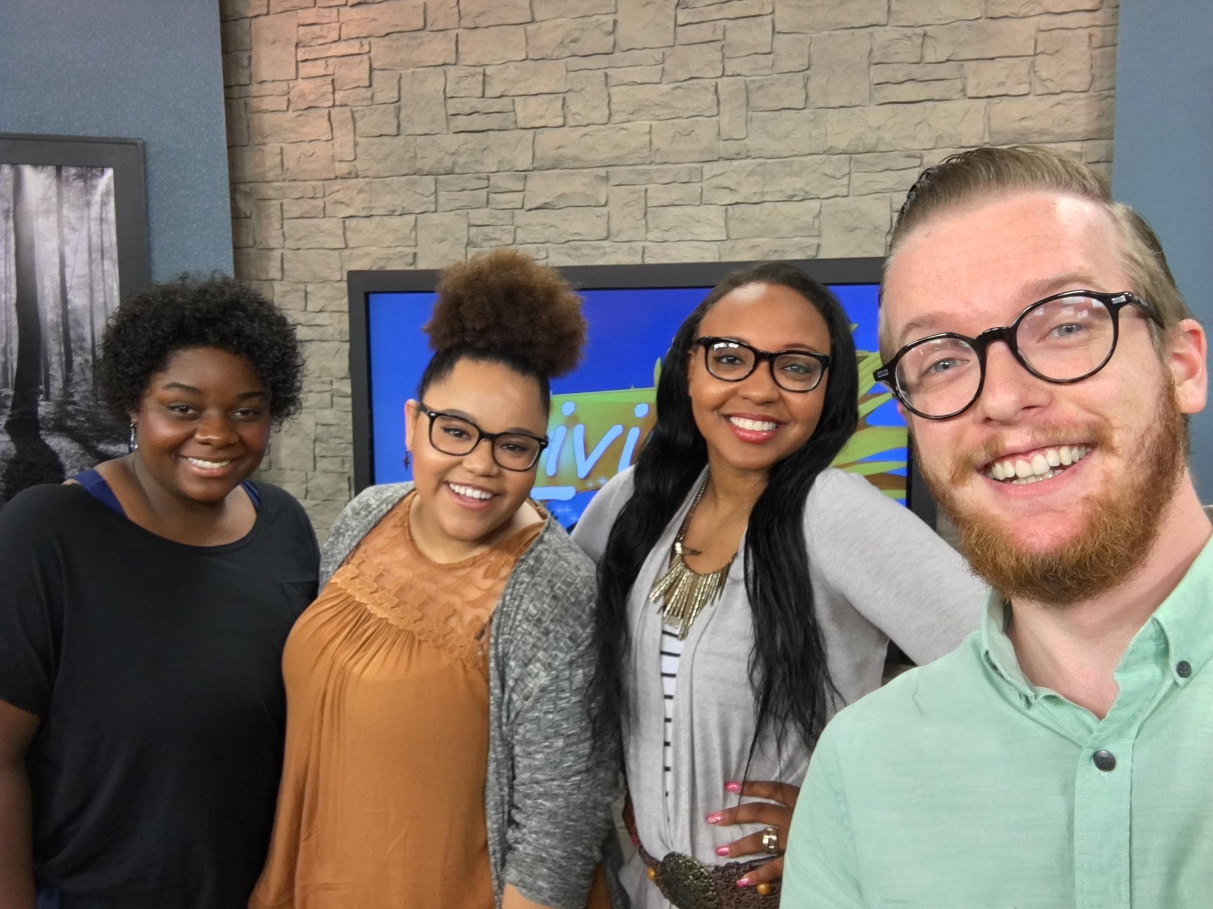 With J'Lyn Hope, Tafadzwa Diener, and Jasmine Dandridge on the set of ciLiving, 8/1/2016