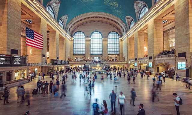 I might be the first person to photograph this iconic place from this exact location. #original  #grandcentral #newyork #nyc #manhattan #busypeople #goingtowork #travel #traveling #longexposure #usa #travelphotography