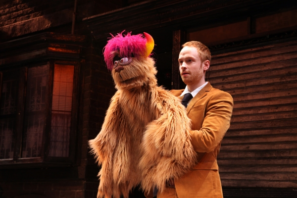 Trekkie Monster and me, at Avenue Q