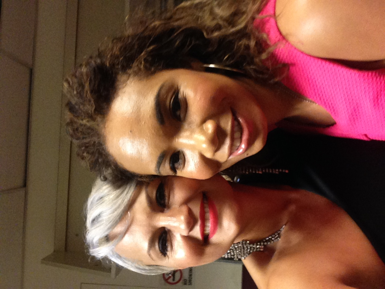 Me and My Girl Autumn Rowe backstage at America's Got Talent