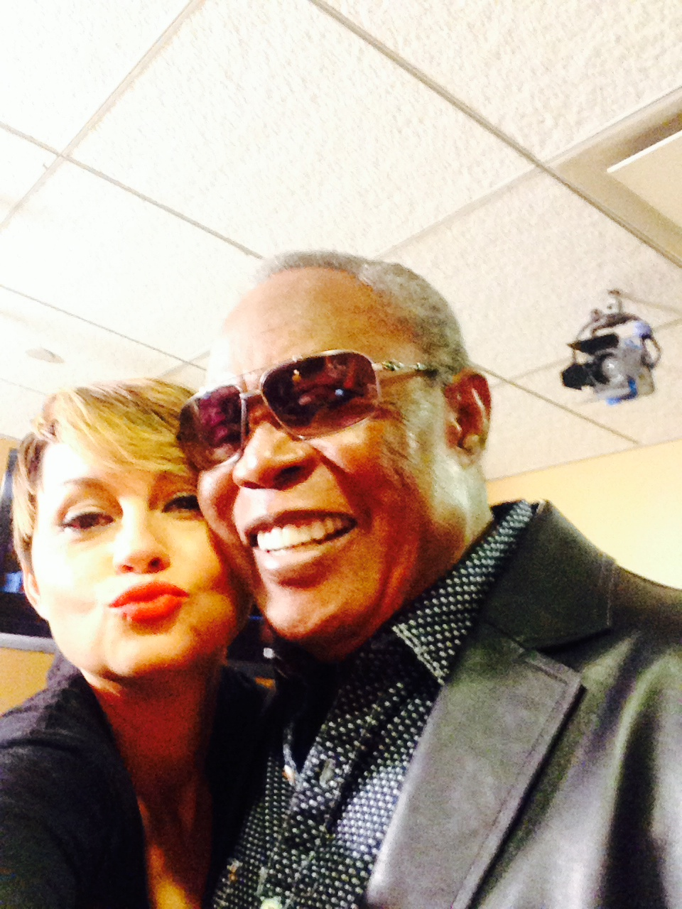 Me and Sam Moore backstage at Fox and Friends