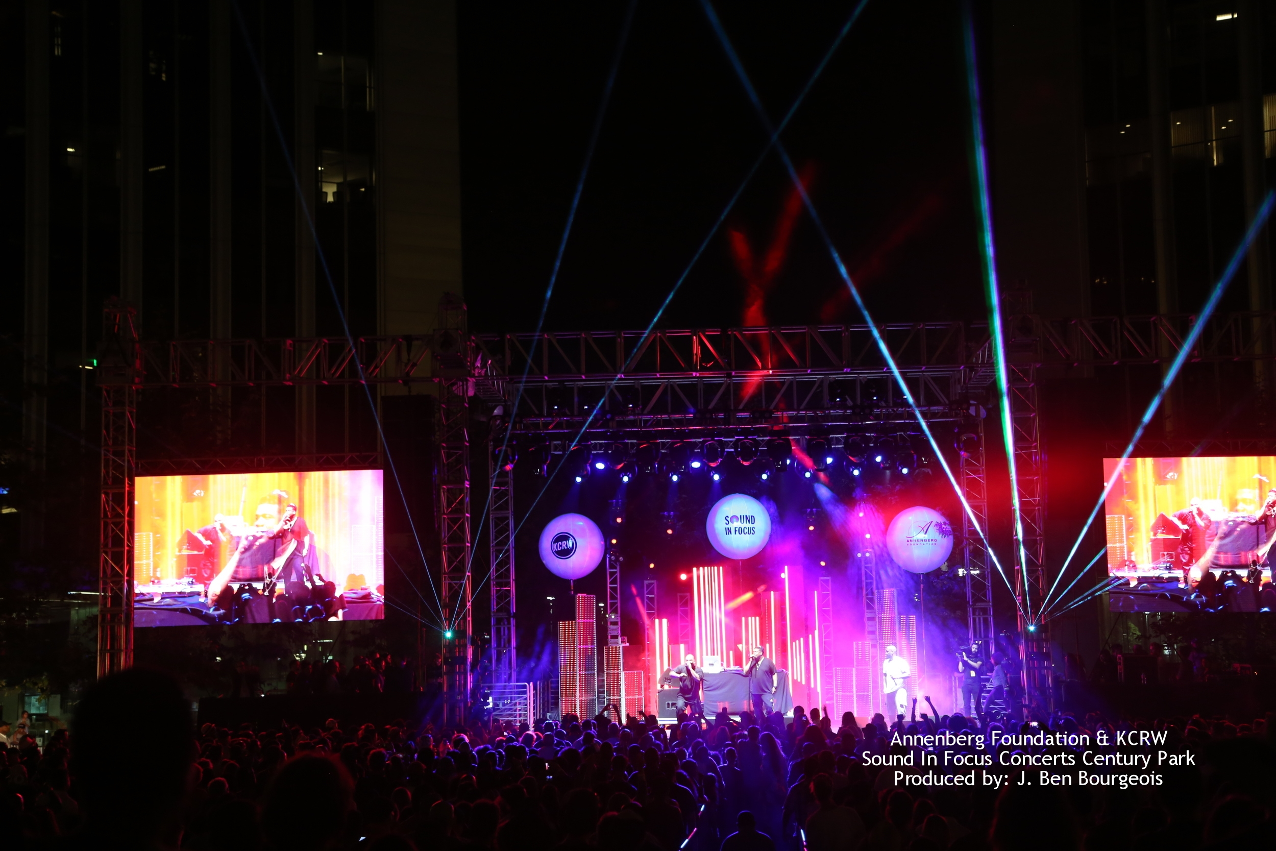 Annenberg Foundation & KCRW Sound In Focus Concerts Century Park Produced by: J. Ben Bourgeois