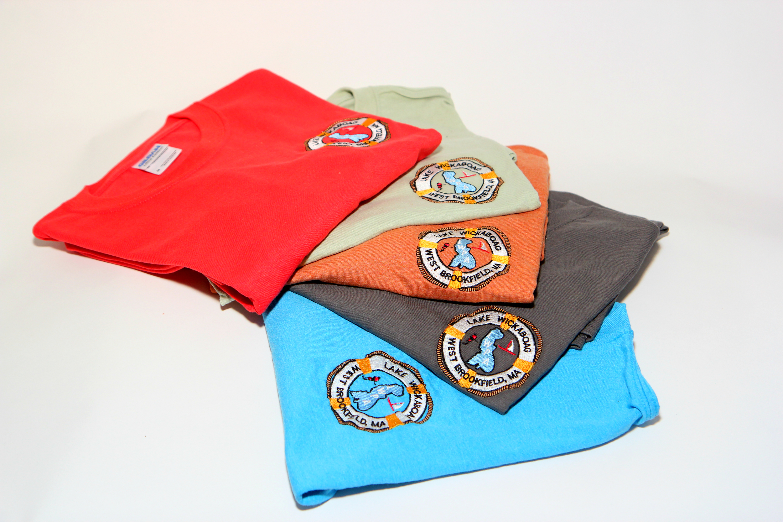 Adult Tee Shirts with embroidered logo $15-$20