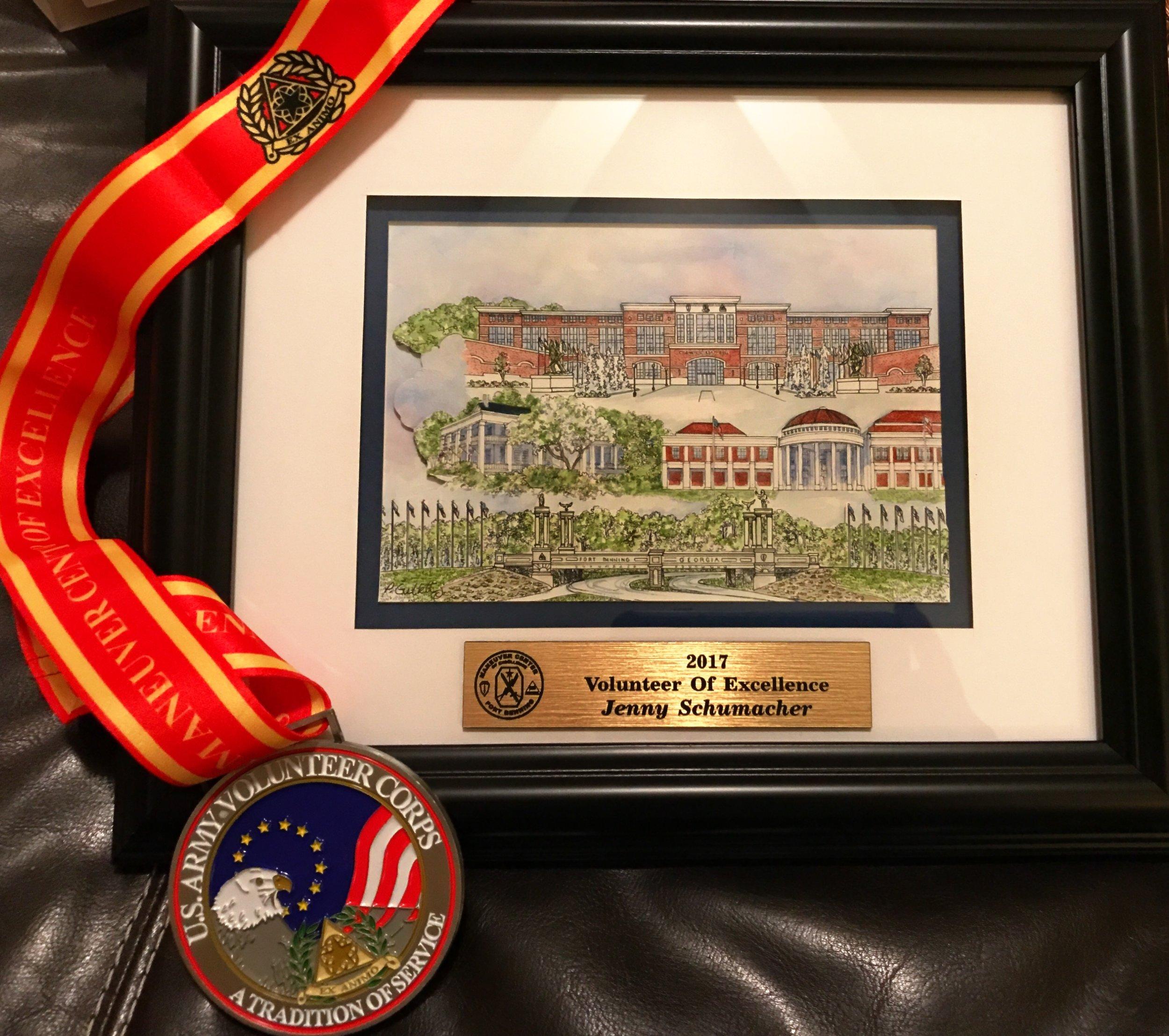 2017 Volunteer of Excellence Award