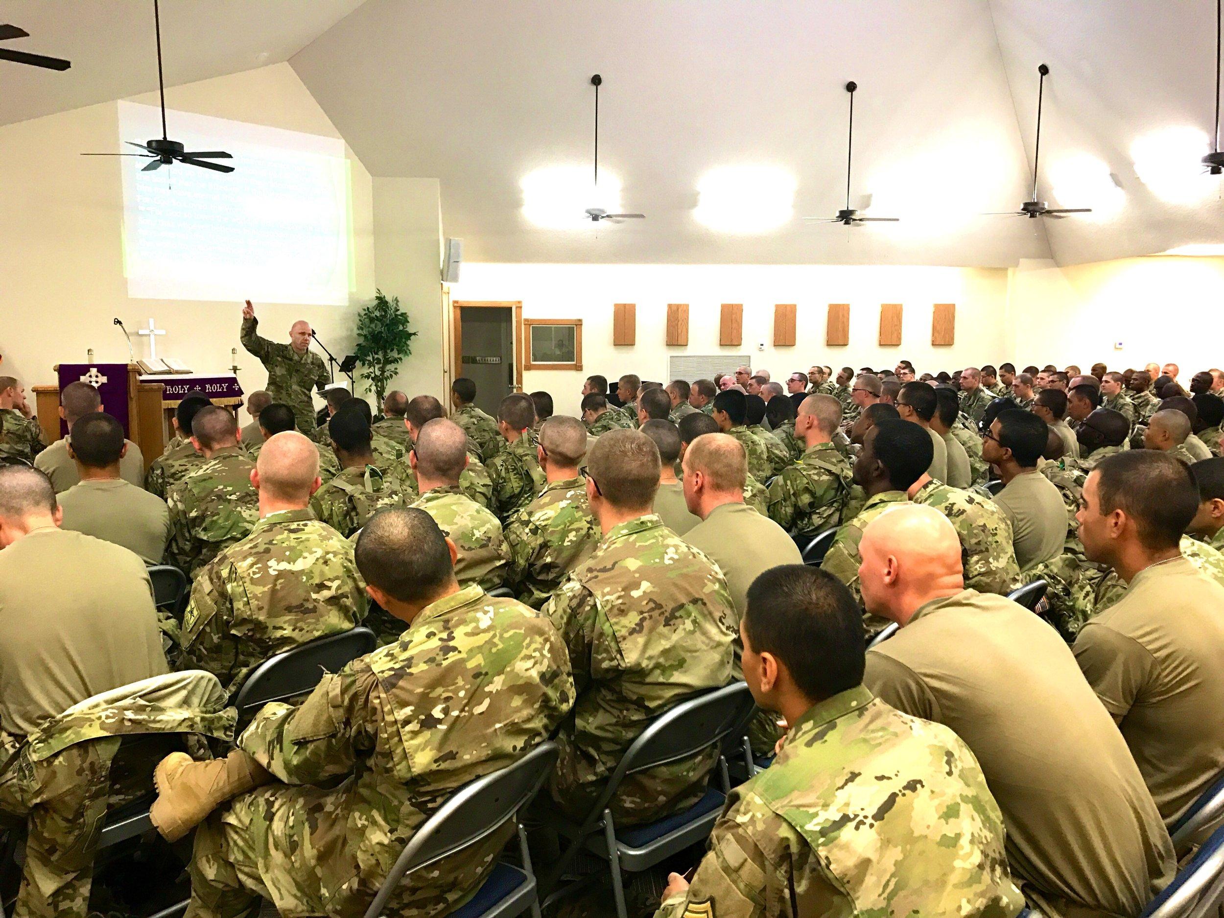 Chaplain Caleb Schumacher Soldiers Chapel