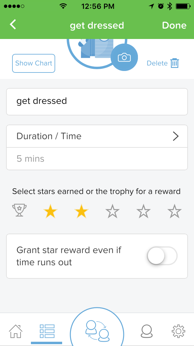 This is the default for all new tasks and our routine library. With the switch set this way, the star value of a card drops to zero when its timer runs out.