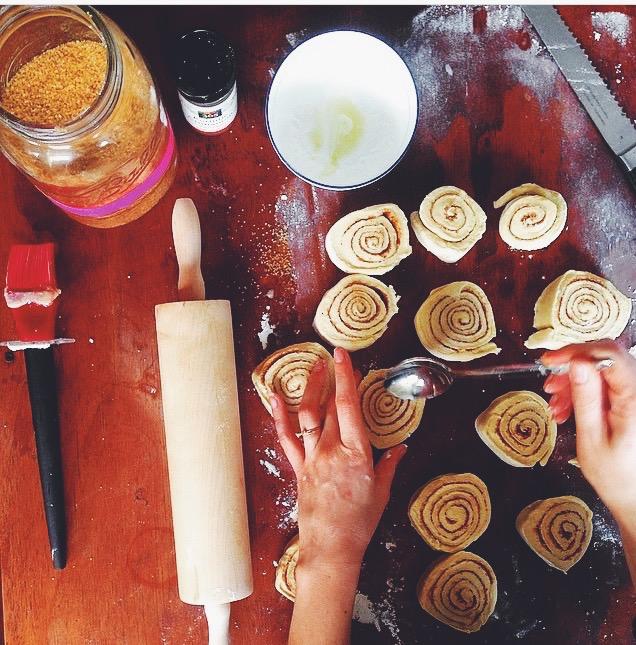 Making Butter Horns, recipe  here