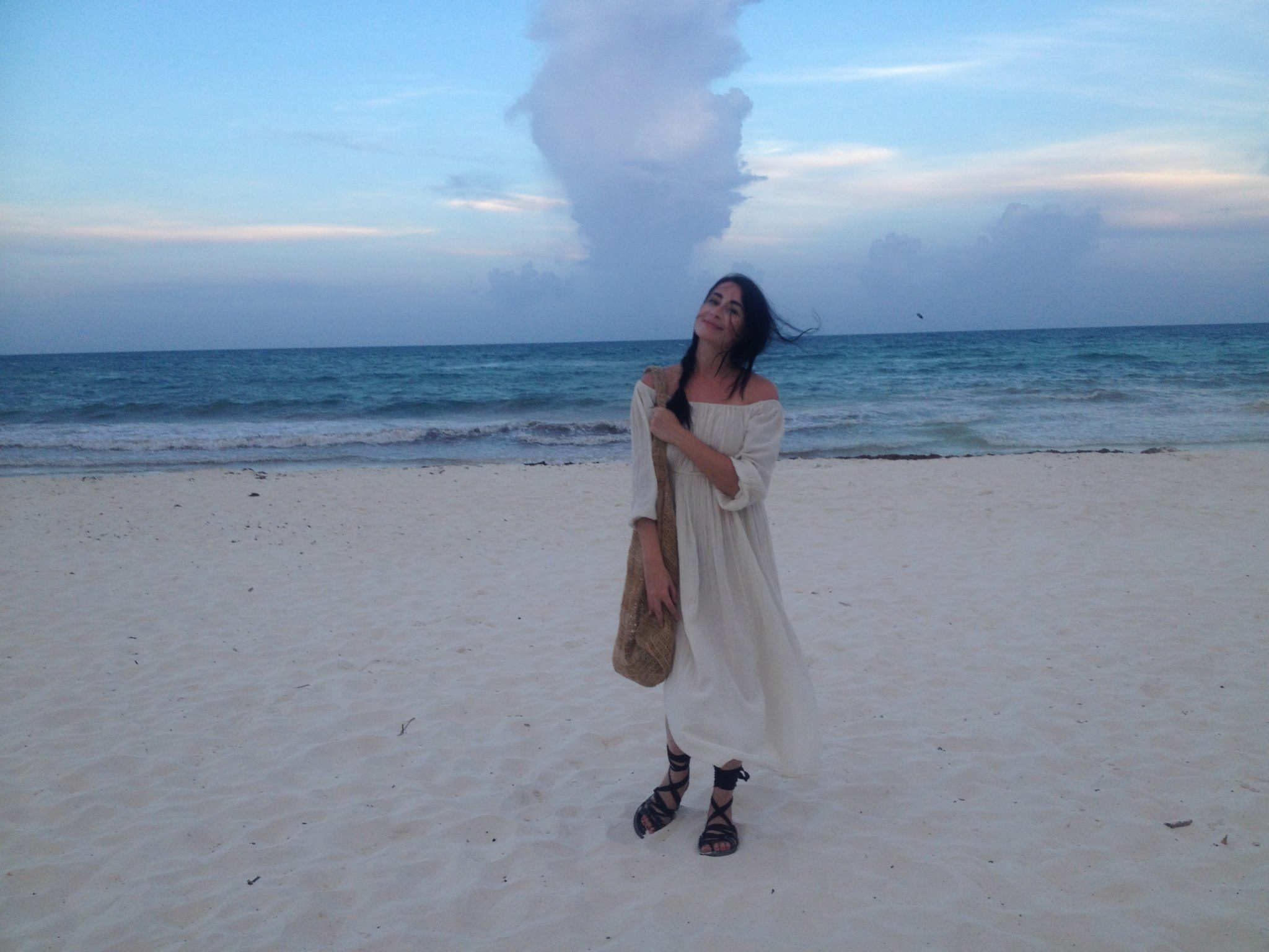 On actual vacation, in Tulum last year.