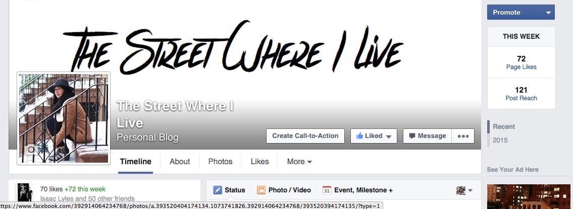 Thestreetwhereilvefacebookpage