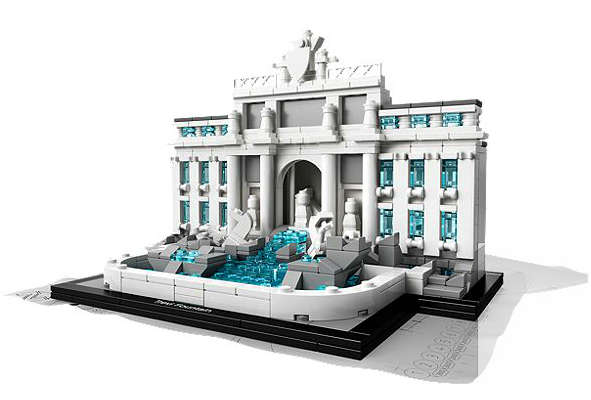 trevi fountain lego