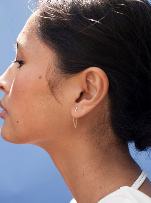 chain bar earrings