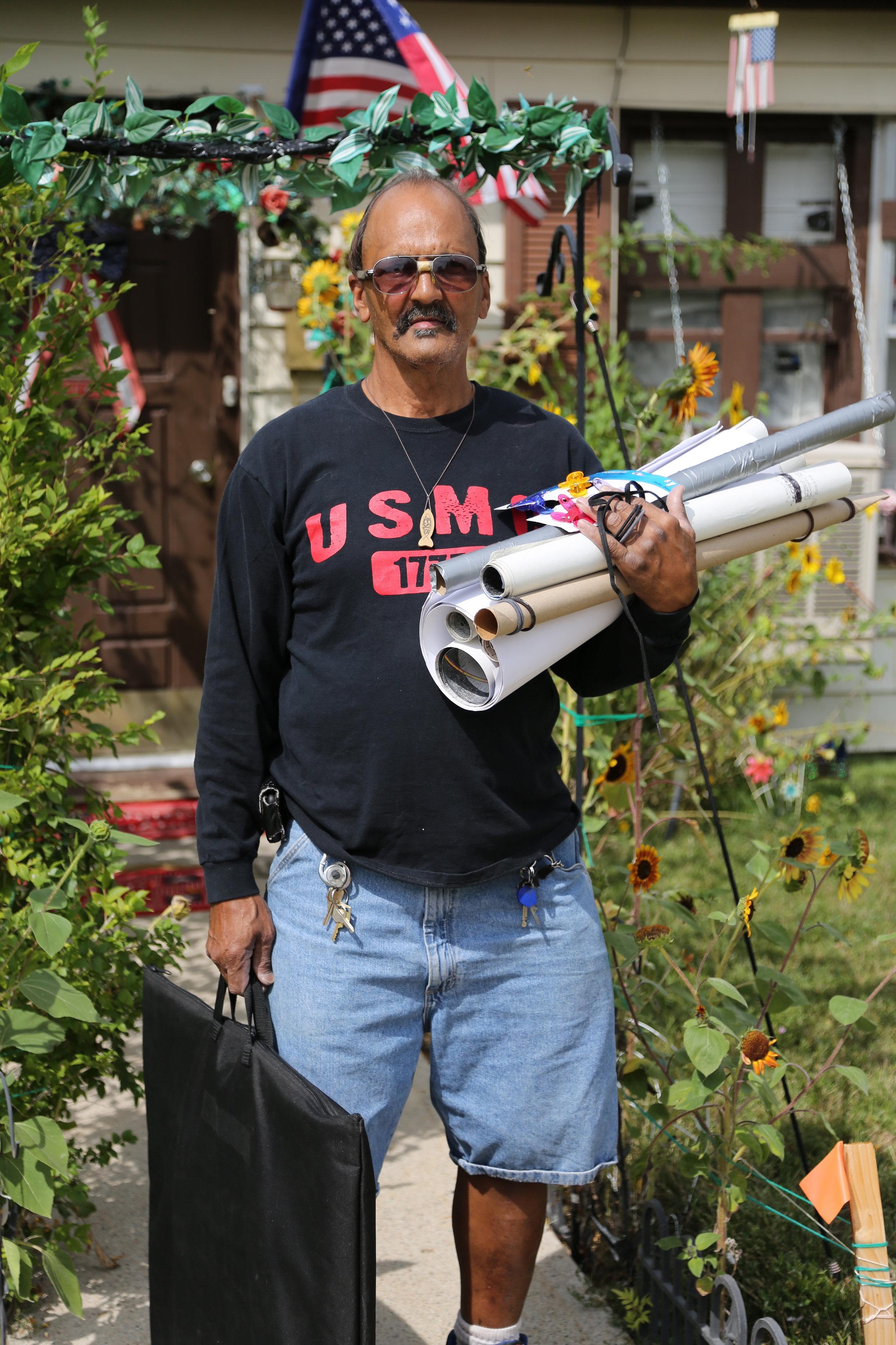 Eugene Morris outside his home in Ogden, Utah (2013).