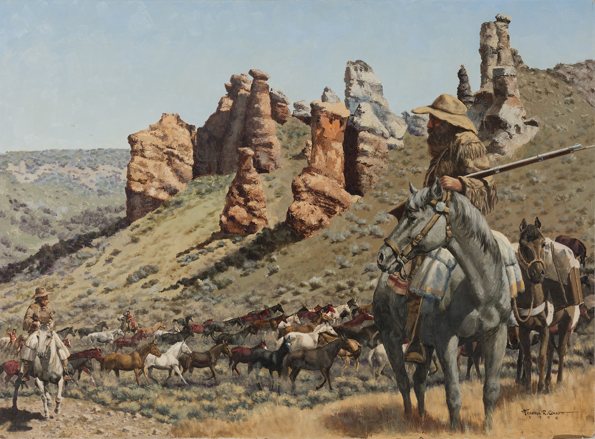"""The Goodyear Horse Drive"" by Farrell R. Collett (Image courtesy Weber State University)"