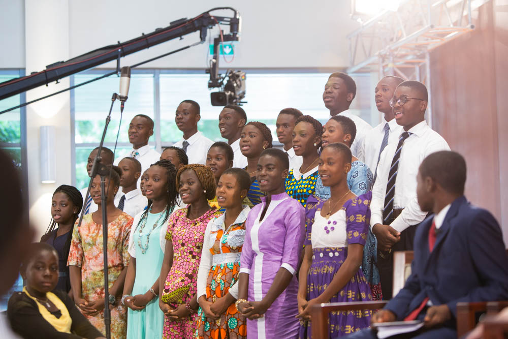Youth from Ghana and neighboring countries traveled up to twelve hours by bus to attend the broadcast in person.