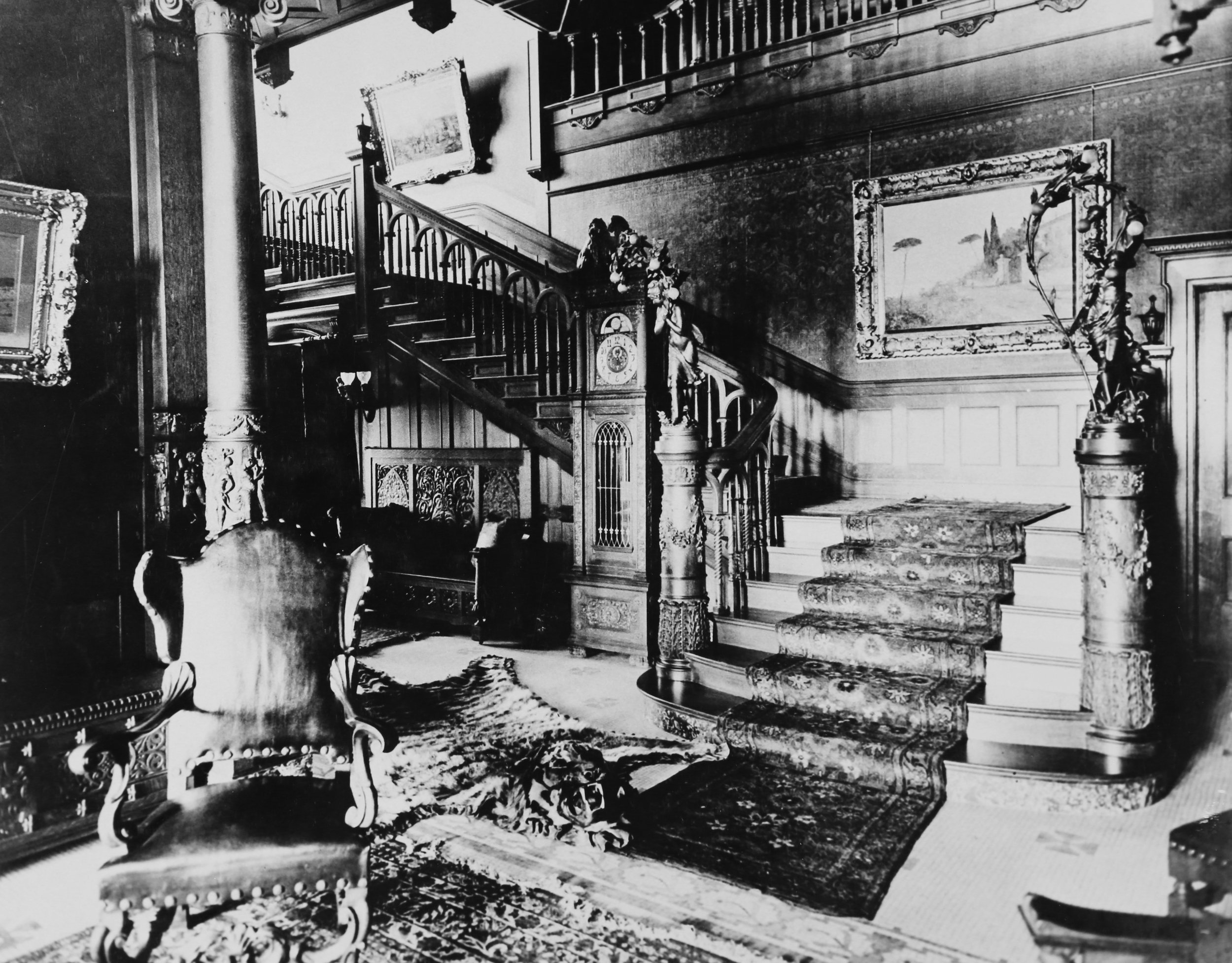 Interior photos of the Mansion during the Kearns years. Archival images courtesy Utah State Historical Society.