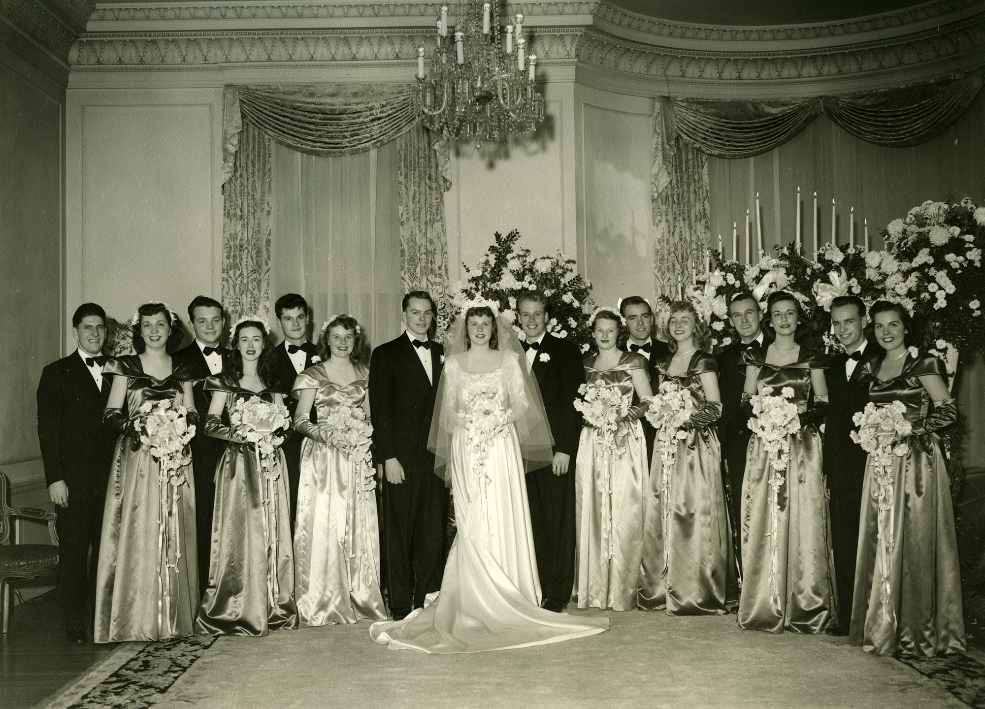 One unique event that happened at the Mansion during the Maw years was a wedding.