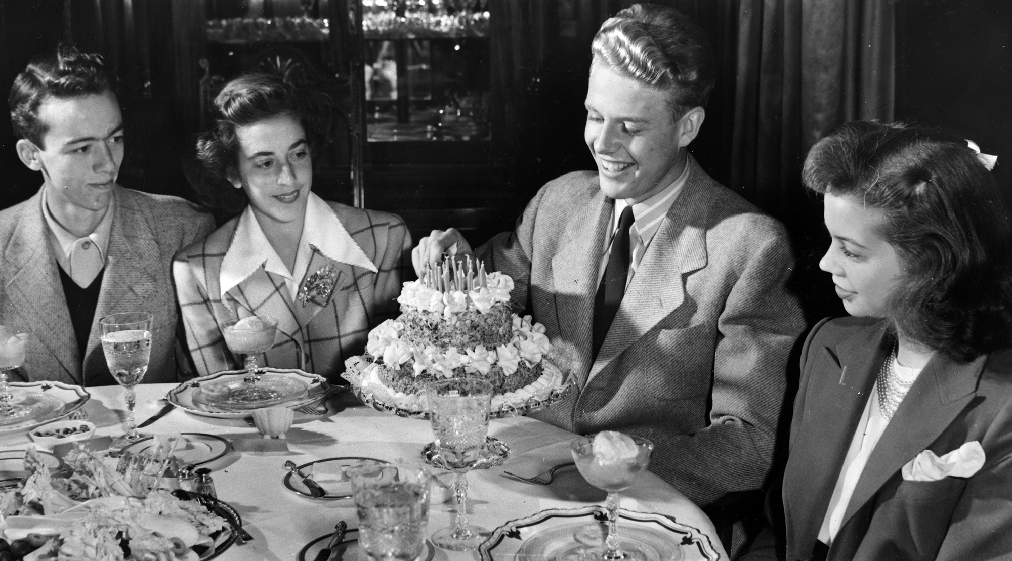 Each Governor family enjoyed hosting formal birthday parties for their children in the Mansion's dinning room.