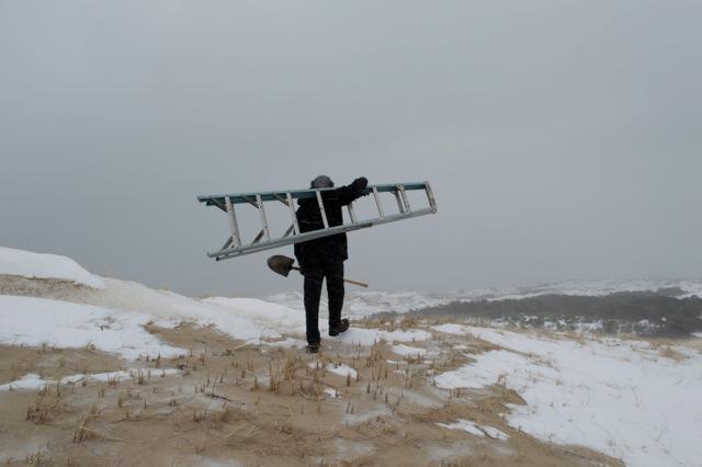 ladder shovel hole walk 3:1:15.jpeg